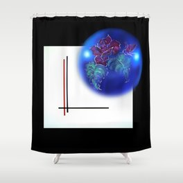 Abstract in perfection - Fertile Imagination Rose 3 Shower Curtain