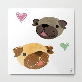 I Heart Pugs Metal Print
