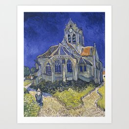 The Church at Auvers by Vincent van Gogh, 1890 Art Print