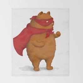 Fighting Cat Throw Blanket