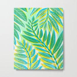 Jungle Vines - Vertical Green Palette Metal Print