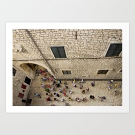 The Walled City of Dubrovnik Art Print