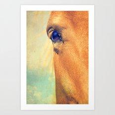 Horse Dreaming Art Print