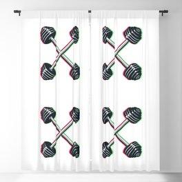 Crossed barbells Blackout Curtain
