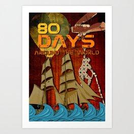 80 Days Art Print