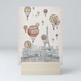 Voyages Over Paris Mini Art Print