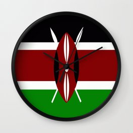 Flag of Kenya Wall Clock