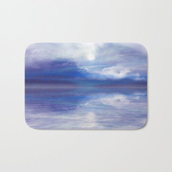 Sunset In Blue Bath Mat