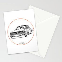 Crazy Car Art 0222 Stationery Cards