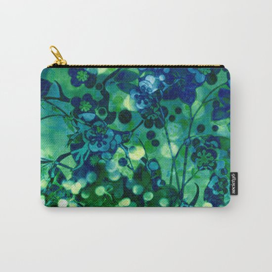 Bokeh floral Carry-All Pouch