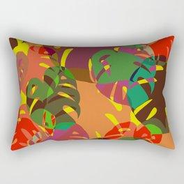 multicolored monstera Rectangular Pillow
