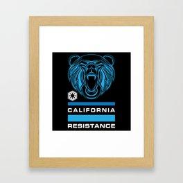 California Resistance Bear Flag Framed Art Print