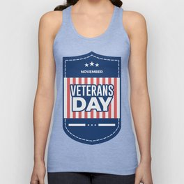 Veterans Day Commemorative Design Unisex Tank Top