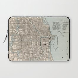 Vintage Map of Chicago (1893) Laptop Sleeve