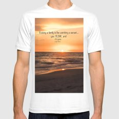 You Are My Sunset Mens Fitted Tee MEDIUM White