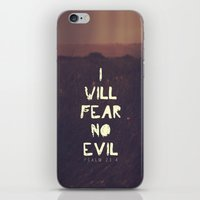 pocketfuel iPhone & iPod Skins featuring I will fear no evil - Ps 23:4  by Pocket Fuel
