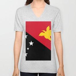 Papua New Guinea Flag Unisex V-Neck