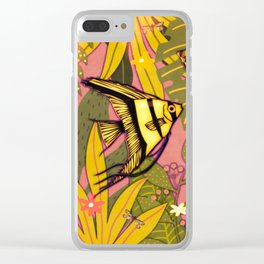 Angel Fish #3 Clear iPhone Case