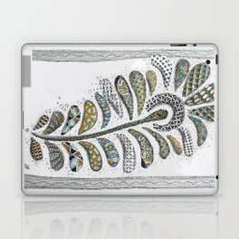 Patterned Peacock Feather Laptop & iPad Skin