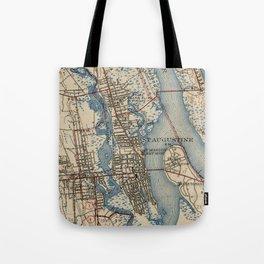 Vintage Map of St. Augustine Florida (1937) Tote Bag