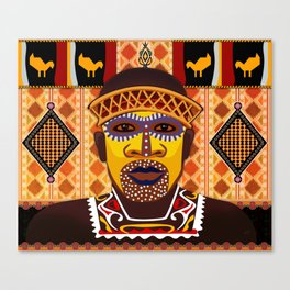 African Tribesman 2 Canvas Print