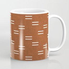 double dash - burnt orange Coffee Mug