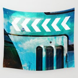 Road Roller Chevron 03 - Industrial Abstract (everyday 19.01.2017) Wall Tapestry