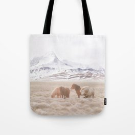 WILD AND FREE 3 - HORSES OF ICELAND Tote Bag