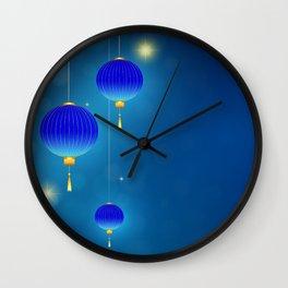 Lighting lanterns in the night Wall Clock