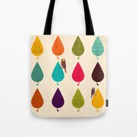 leaves Tote Bags featuring Leaves by Kakel