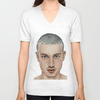 boy V-neck T-shirts featuring BOY by Laura O'Connor