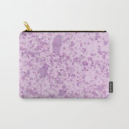Pink Lavender Splatter Pattern Carry-All Pouch
