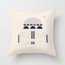 Retro R2 Throw Pillow