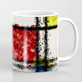 Mondrian with a twist Coffee Mug
