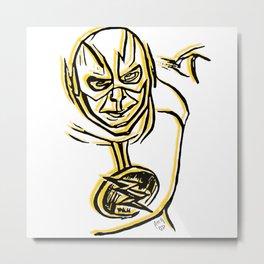 Reverse Flash Sketch Metal Print