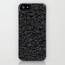Dried grapes. Background. iPhone Case