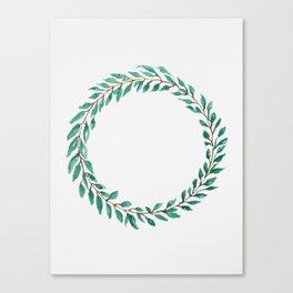 Green Wreath Canvas Print