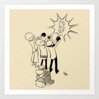 blackhawks Art Prints featuring Teuvo by Le Pac