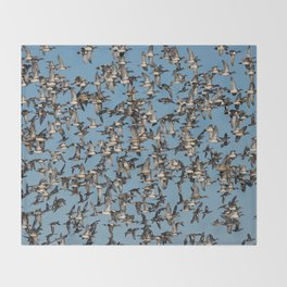 Wintering Ducks in Flight Throw Blanket