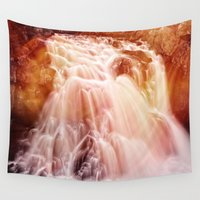 demon Wall Tapestries featuring Demon Falls by Nicolas Raymond