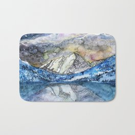 The Maroon Bells Meets  the Sky Bath Mat