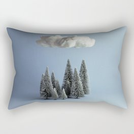 A cloud over the forest Rectangular Pillow