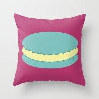 macaron Throw Pillows featuring Macaron by Diapeirein