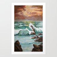 "Breaking Through- 30"" x 40"" - Oil Art Print"