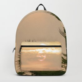 cloudy sky in the oasis Backpack