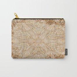 Petrified Wood Kaleidoscope Carry-All Pouch