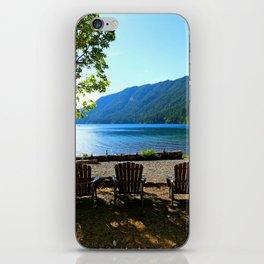 Adirondack Chairs at Lake Cresent iPhone Skin