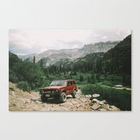 adventure is out there Canvas Prints featuring Adventure Out by Natalie Allen