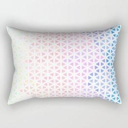 Groovy Boho Modern Triangle Gradient Rectangular Pillow