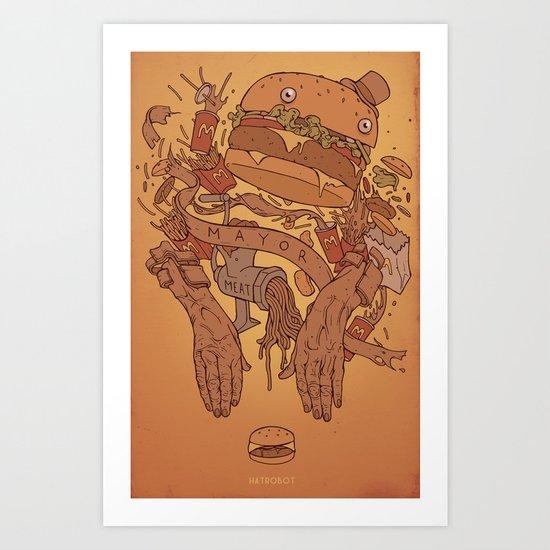 Burger Time Art Print